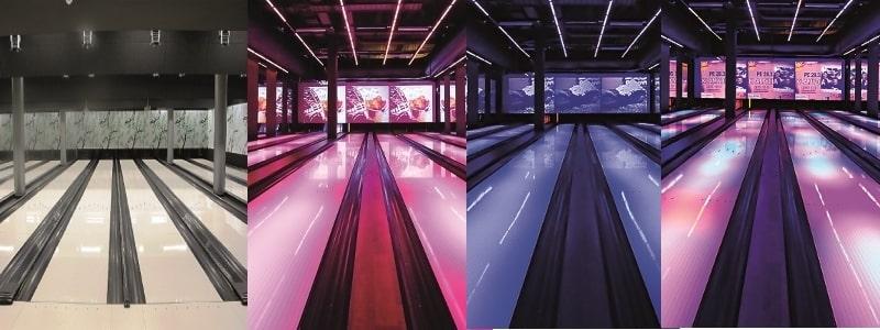 """""""Белые"""" дорожки боулинга - идеальная платформа для дизайнерских решений с подсветками"""